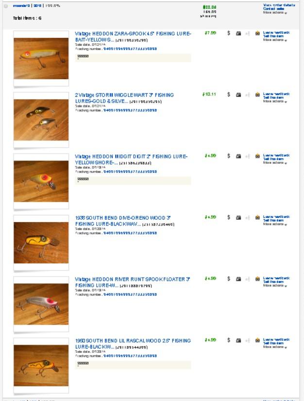 ebay fishing lures