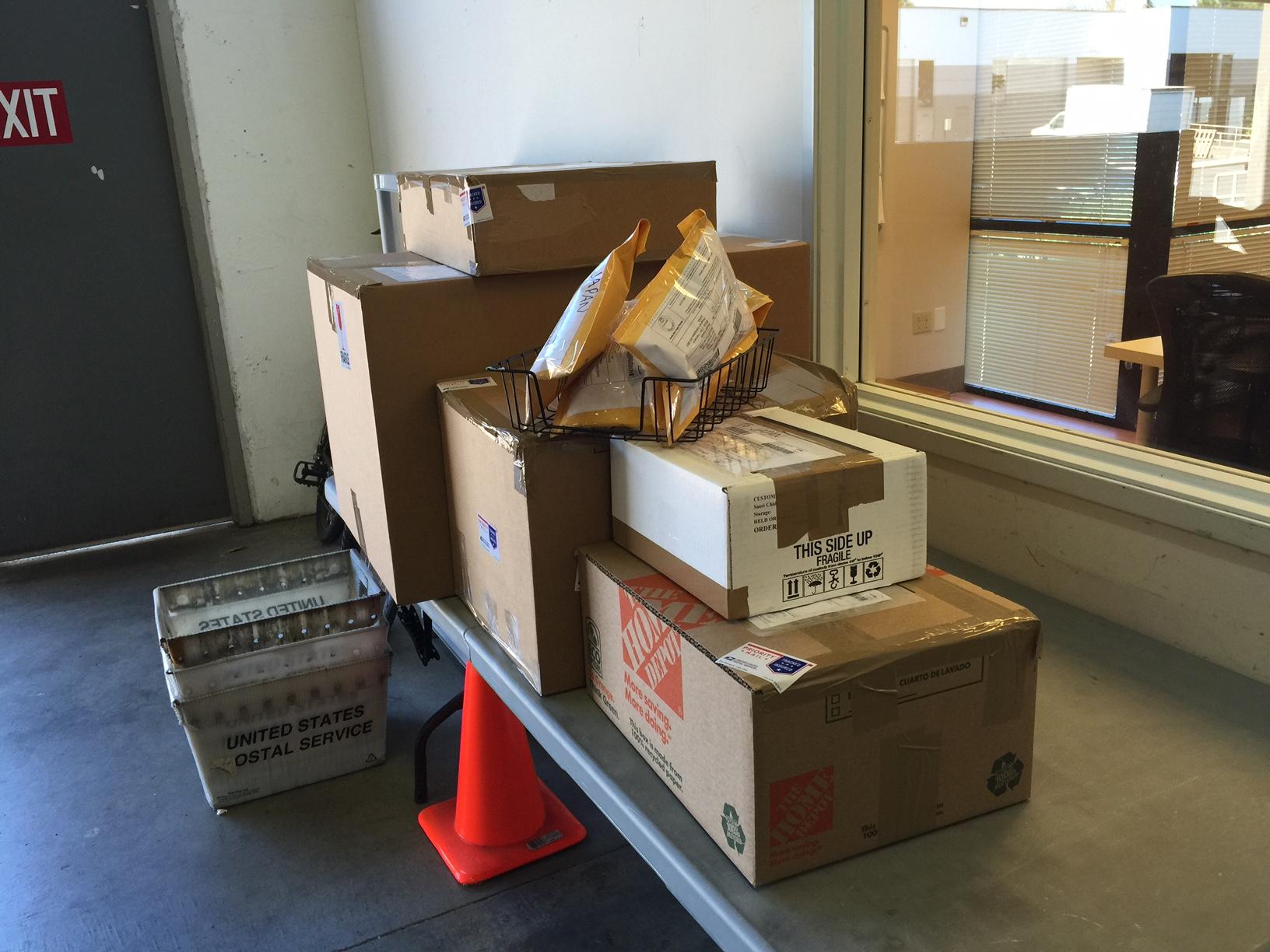 アメリカから日本へ郵便で発送