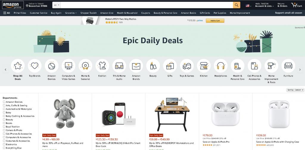 米国アマゾン年末セール